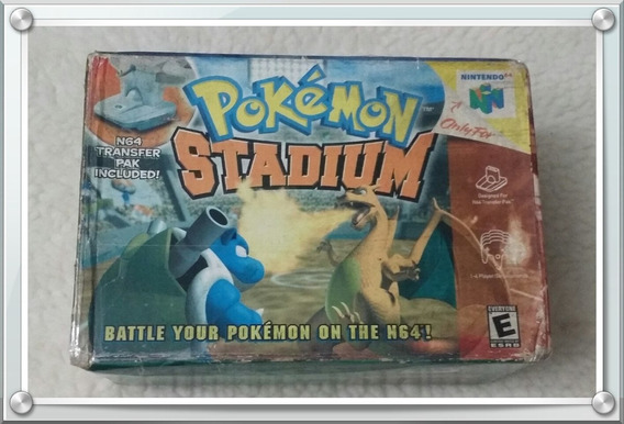 Pokemon Stadium 64 Americano + Caixa Original Nintendo 64
