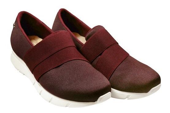 Zapato Para Dama Malla Vino Hispana 6506