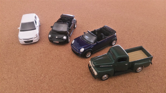 04 Minis Welly 1/64 Loose (i30, Beetle, Mini Cooper, Ford)