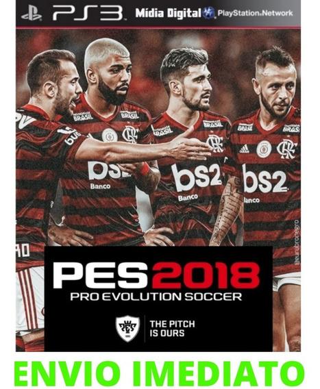 Jogo Pes 18 Ps3 Midia Digital Atualizado Português