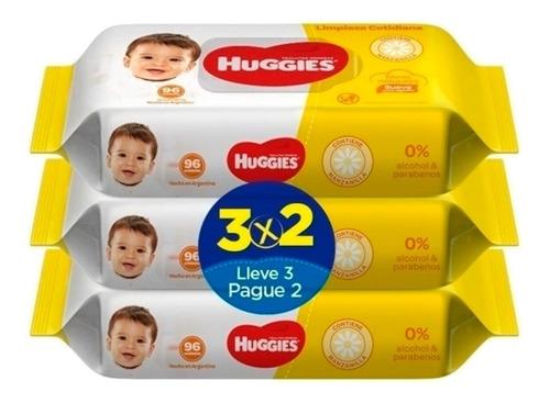 Imagen 1 de 1 de Huggies Limpieza Cotidiana 96 Pack 3x2