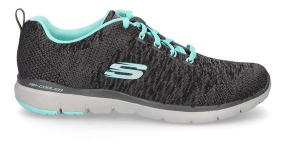 Skechers Zapatillas Running Mujer Flex Appeal 3.0 Gris