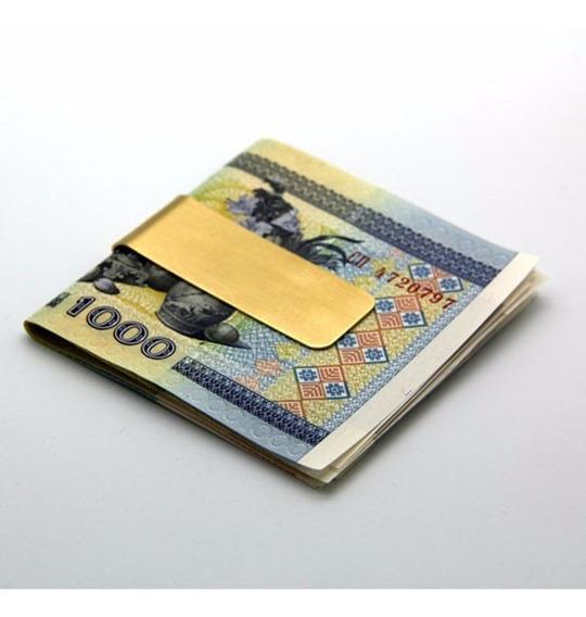 Clip De Billetes   Sujetador De Dinero   Dorado Y Plateado