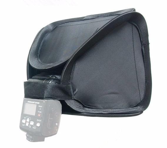Softbox Dobrável 23cm Flash Portátil Case