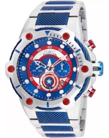 Relógio Jkl5698 Invicta Capitão América 25780 Novo Lacrado Frete Gratis Com Caixa E Manual