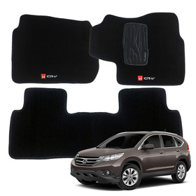 Tapete Carpete Honda Crv Cr-v 2012 13 14 15 16 17  5 Peças
