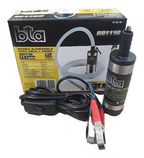 Bomba Trasvase Diesel Y Agua Bta 12v Sumergible 11l/min