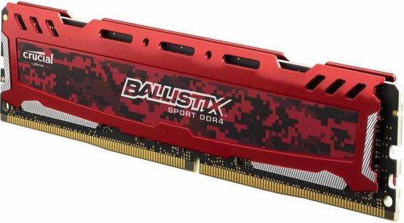 Memoria Ram Ddr4 Crucial Ballistix 16gb 3200mhz Gamer Red !!