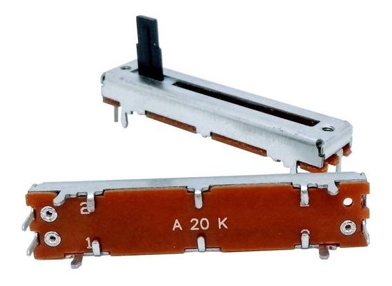 2 Unids Potenciômetro Deslizante Mono 20ka A20k 45mm X 30mm