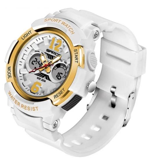 Relógio Feminino Esportivo Branco Prova D
