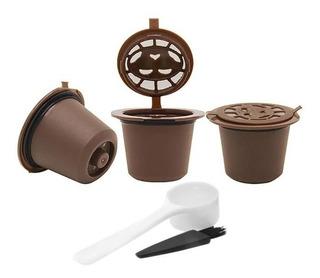 Set 3 Capsulas Reutilizables Nespresso® + Cuchara Y Pincel