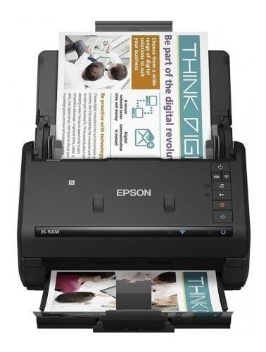 Scanner De Documentos Epson Workforce Es-500w Bivolt Preto