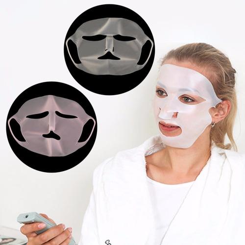 Mascara De Silicona Facial Reutilizable Color Blanco/rosa
