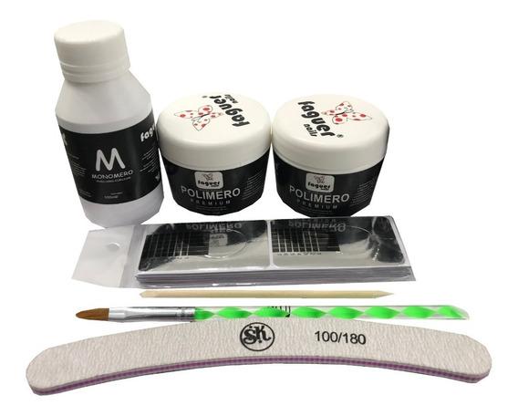 Kit Para Uñas Esculpidas Acrilicas Profesional. Faguer Nails