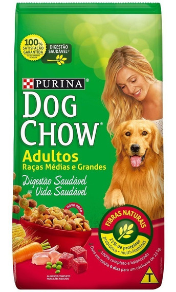 Purina Dog Chow Racao Seca Caes Adult Racas Med Grand 20kg