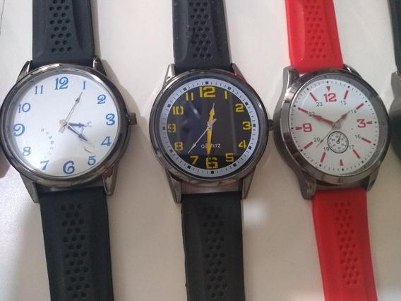 Relógios Masculinos E Femininos Kit C/10 + Caixas Atacado