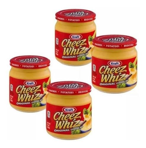 Salsa De Queso Kraft Cheez Whiz Original 4 Frascos X 425 Grs