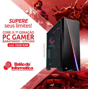 Gamer Pc I5 7400 16gb Ddr4 Hyperx 650w +ssd 120gb Gtx 1060ti