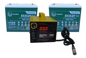 Kit 2 Bateria 24ah Carregador 5ah 24v Scooter Ebike 6dzm20