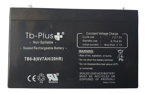 Batería Remplazo Moto Y Carro Electrico Recargable 6 V 7ah