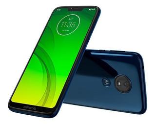 Smartphone Motorola Moto G7 Power Azul Tela 6.2 64gb 12mp
