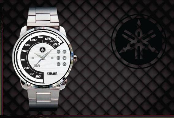 Relógio De Pulso Personalizado Logo Painel Yamaha Midnight