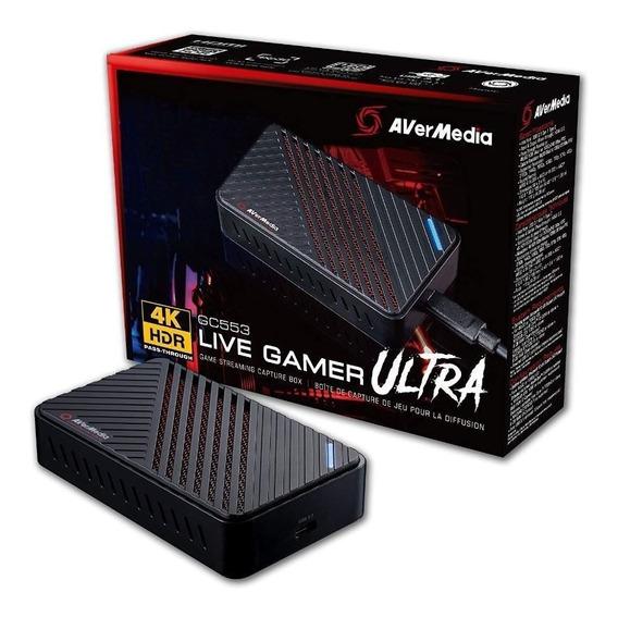 Placa De Captura 4k Live Gamer Ultra Gc553- Avermedia