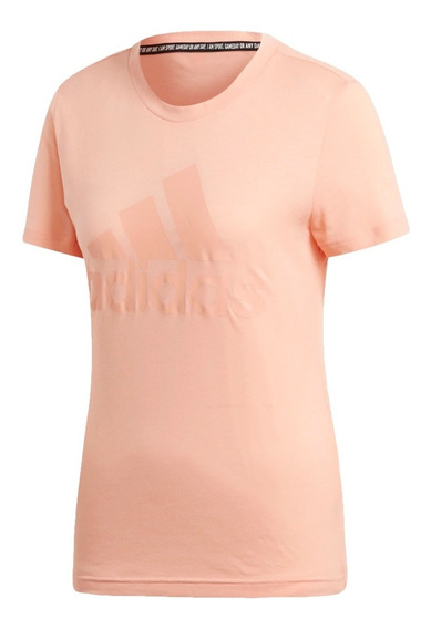 adidas Remera Running Mujer Must Haves Badge Of Sport Salmon