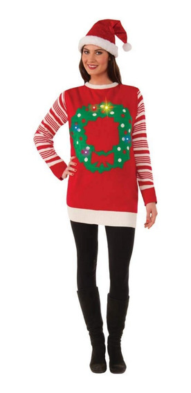 Suéter Navidad Christmas Ugly Sweater Con Luz Mediano Unisex