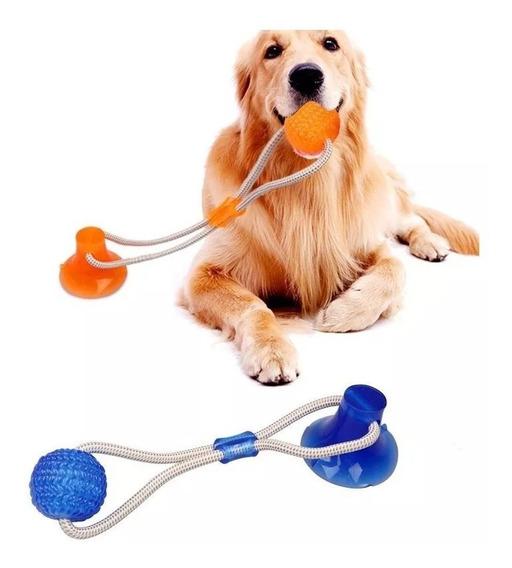 Brinquedo Mordedor Interativo Corda Bola Ventosa Para Caes