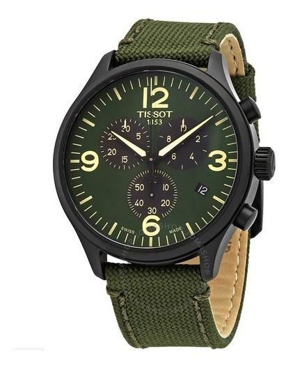 Relógio Tissot Xl Cronógrafo Verde/nylon Suíço Masculino 45