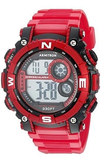 Armitron Sport 54mm Cronógrafo Digital Mate Rojo Reloj De