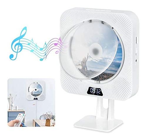 Imagen 1 de 7 de Discmans Portátil Con Bluetooth Con Pantalla Lcd Fm, Blanco