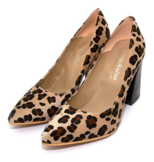 Zapatos Stiletto Animal Print Art. 7000/n