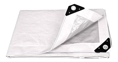 Lona Toldo Pretul 4 X 5 Metros Reforzada Blanca Aluminio