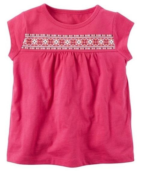 Camiseta Blusa Carters Manga Curta Infantil Menina Original