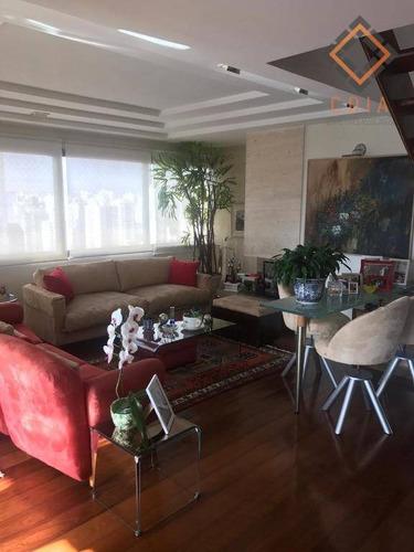 Cobertura Com 4 Dormitórios À Venda, 300 M² Por R$ 4.000.000,00 - Moema - São Paulo/sp - Co1467