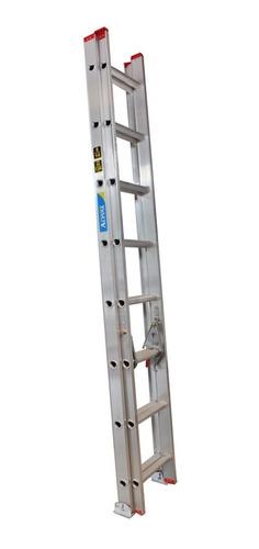 Imagen 1 de 6 de Escalera Telescopica Extensible Aluminio 14 A 28 Esc. 7.60m
