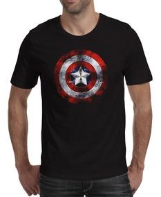 Camiseta Geek Super Herois Camisa Capitão América Marvel M-2