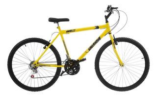Bicicleta Aro 26 V Brake 18 Marchas Amarela Pro Tork Ultra
