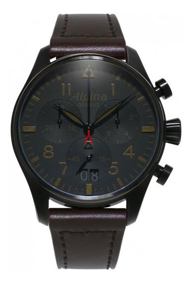 Relógio Masculino Alpina Al-372bbg4fbs6 Couro