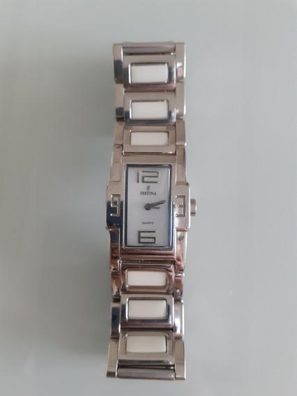 Relógio Suíço Festina Aço-f16233- Menor Modelo Original-novo