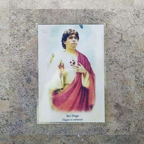 Imagen 1 de 6 de Estampita Santo Diego Maradona