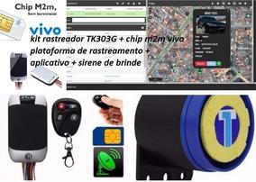 Kit Rastreador Tk303g Coban+chip M2m Vivo +plataforma+app