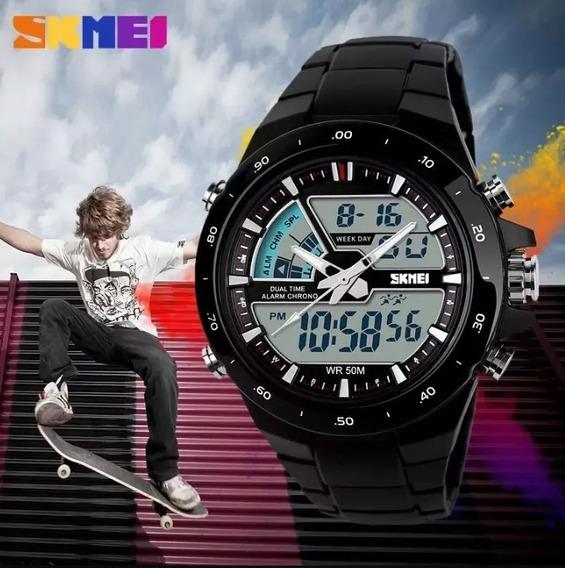 Relógio Skmei 1016 Analógico Digital Á Prova D