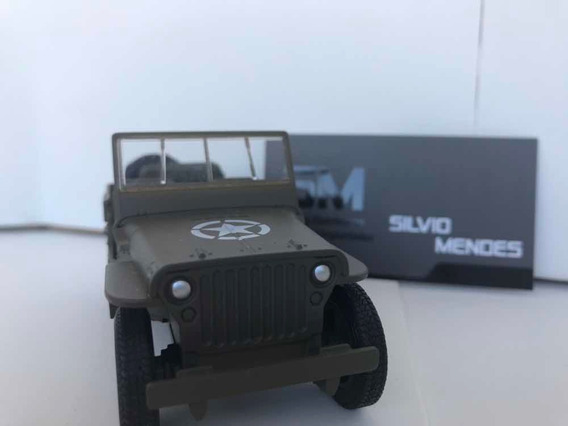 Miniatura Jeep Willys Militar Escala 1/32