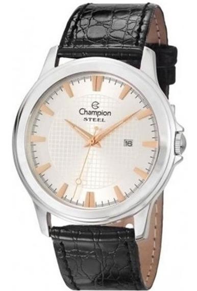 Relógio Masculino Pulseira De Couro Champion Ca21188q