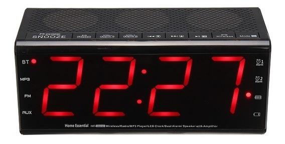 Leory Mx 20 Estéreo Bluetooth Speaker Com Relógio Digital Al