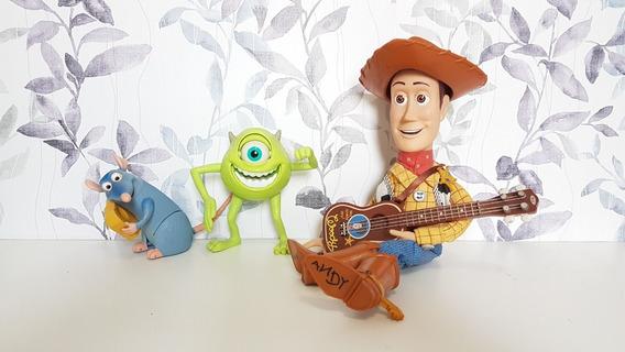 Boneco Toy Story Woody Original ( Mais Mike E Remy )