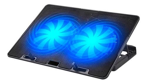 Imagen 1 de 3 de Base Cooler Notebook 13 A 17 Pulgadas Usb Luz Led Doble Fans